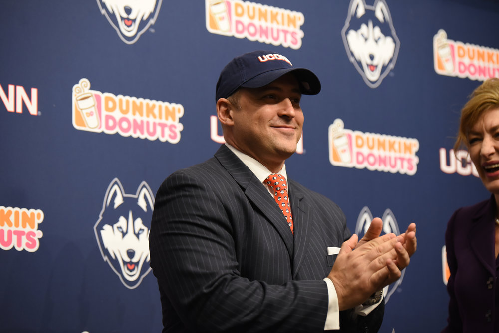 Benedict has served as UConn's athletic director since Feb. 29, 2016, prior to which he served as the Chief Operating Officer at Auburn University from 2014-16 and Deputy Athletic Director at Minnesota from 2012-14, among other leadership positions. (File Photo/The Daily Campus)