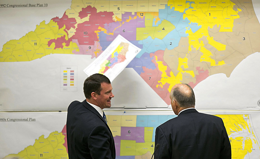 A panel of federal judges recently struck down the congressional map for the state of North Carolina because of what they say is unconstitutional gerrymandering. (Corey Lowenstein/AP)