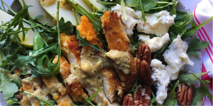 This week on Melissa's Menu is perfect for a fresh start to the year. For a healthy lunch or dinner, try this gorgonzola and pear salad. (Photo courtesy of Delish.com)