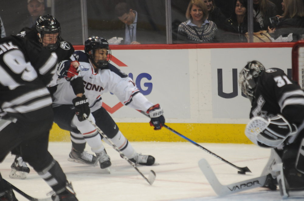 Men's Hockey had a much needed win at Providence on Saturday night (Eric Wang/The Daily Campus)