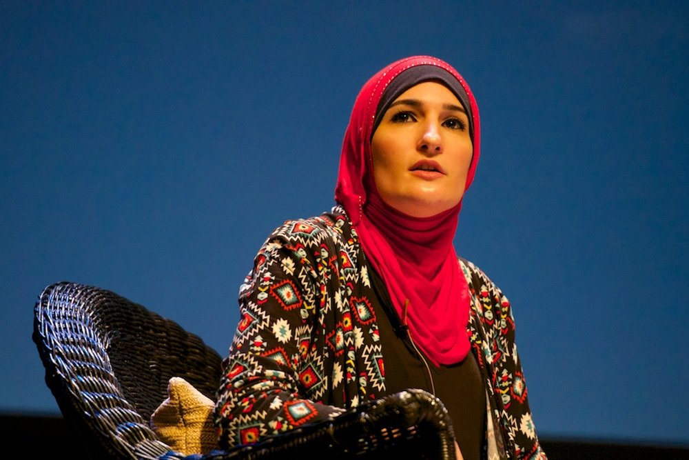 Linda Sarsour is one of the four co-chairs of the 2017 Women's March and the former director of the Arab American Association of New York. (Festival of Faiths/Creative Commons)