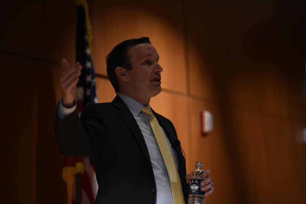 "Murphy told the Hartford Courant that Connecticut's thousands of ""Dreamers,"" people brought to the United States as children who now face deportation after President Trump ended DACA, were a factor in his decision to vote against the resolution."