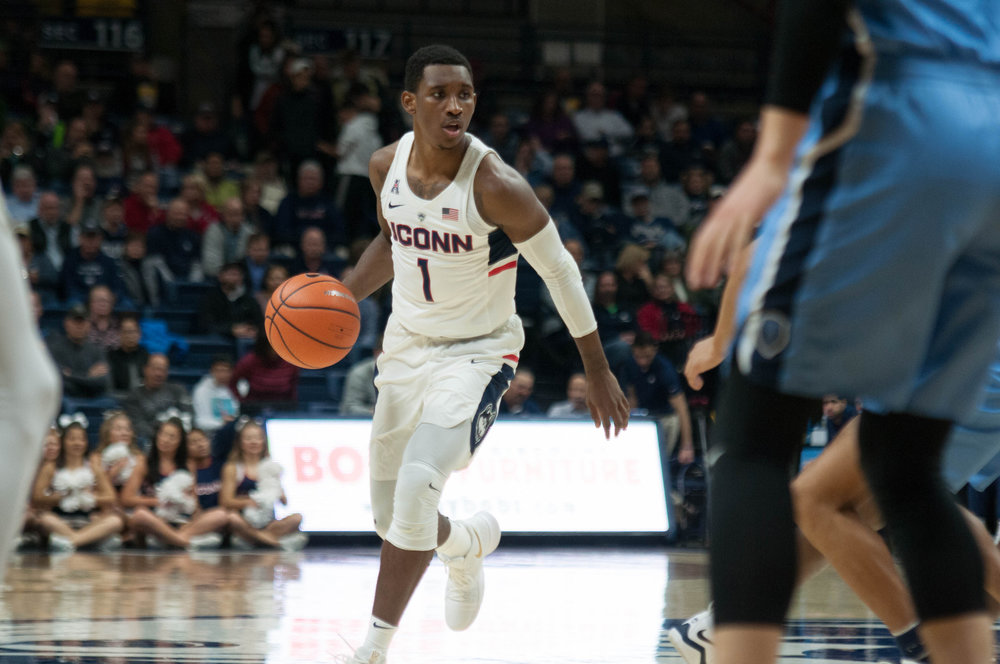 UConn Huskies take on the SMU Mustangs at Gampel Pavilion Jan. 25, 2018. (Eric Wang/The Daily Campus)