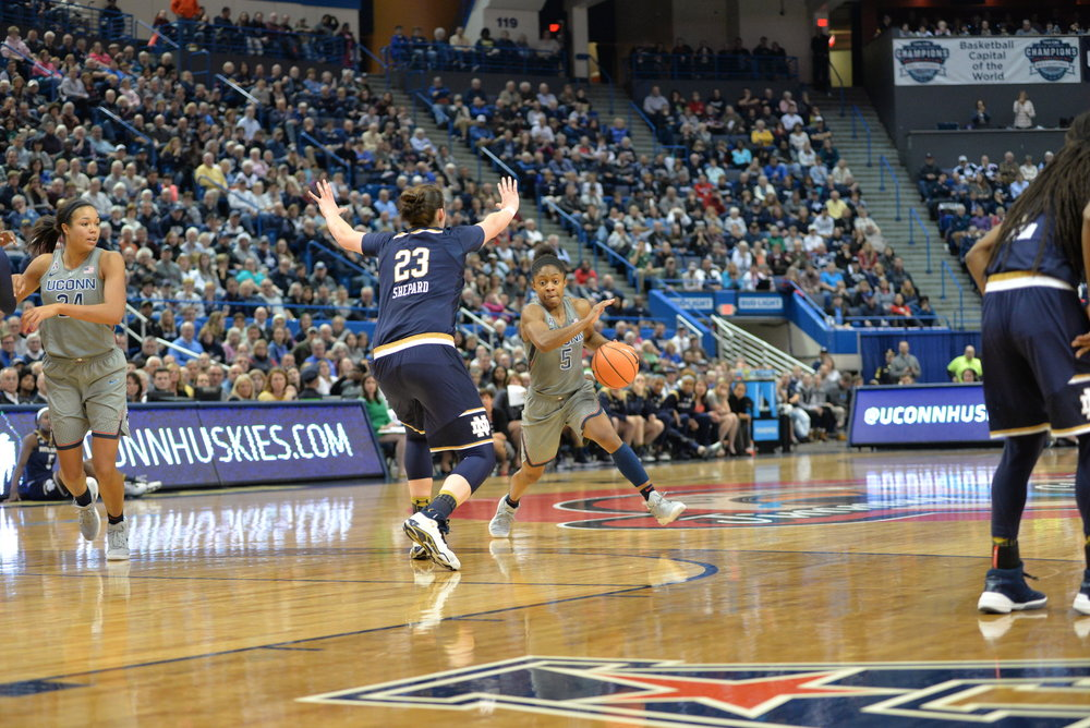 UConn defeats Memphis 93-36 in their matchup on Jan. 24, 2018. (Amar Batra/The Daily Campus)