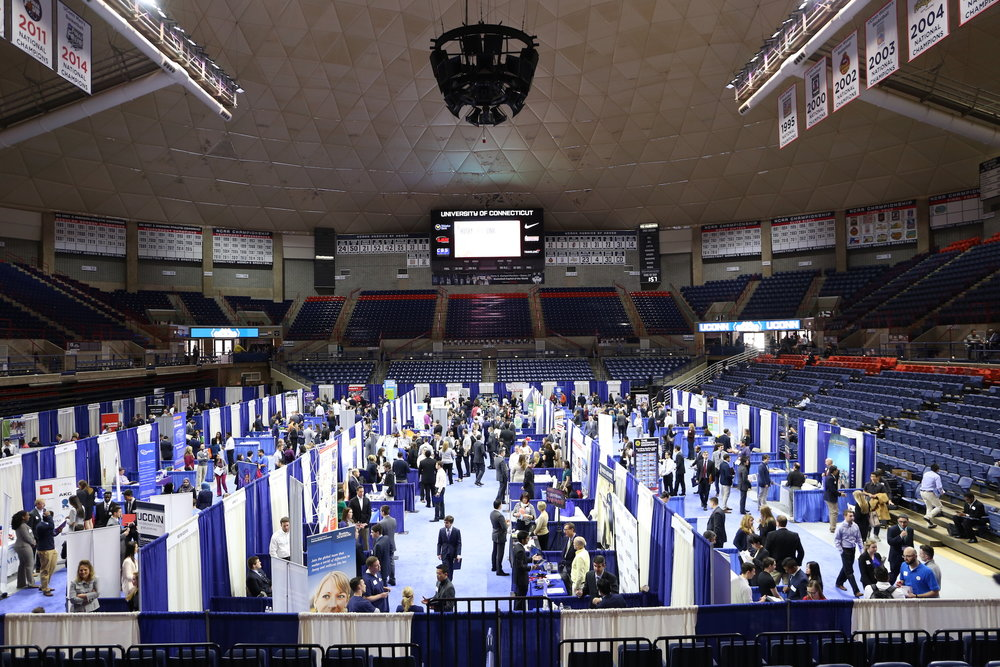 Students participate in one of the several career fairs hosted at UConn each year. (File Photo/The Daily Campus)
