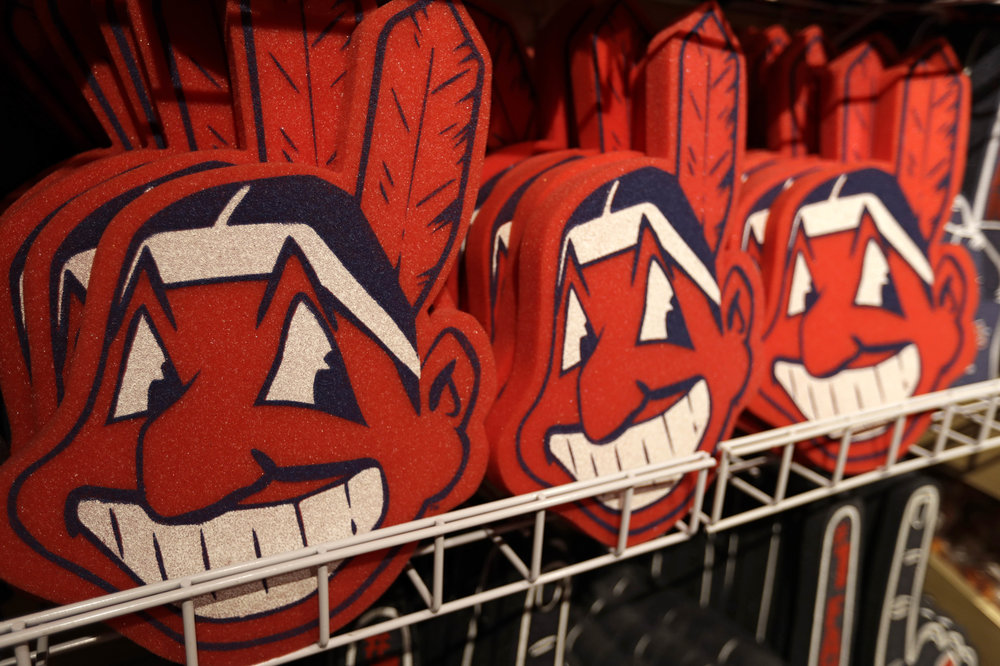 Divisive and hotly debated, the Chief Wahoo logo is being removed from the Cleveland Indians' uniform next year. The polarizing mascot is coming off the team's jersey sleeves and caps starting in the 2019 season. The Club will still sell merchandise featuring the mascot in Northeast Ohio. (AP Photo/Tony Dejak)