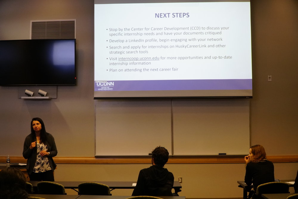 Students attended Finding an Internship or Co-Op this past Wednesday in hopes of learning the secrets to finding and applying for jobs. (Eric Wang/The Daily Campus)