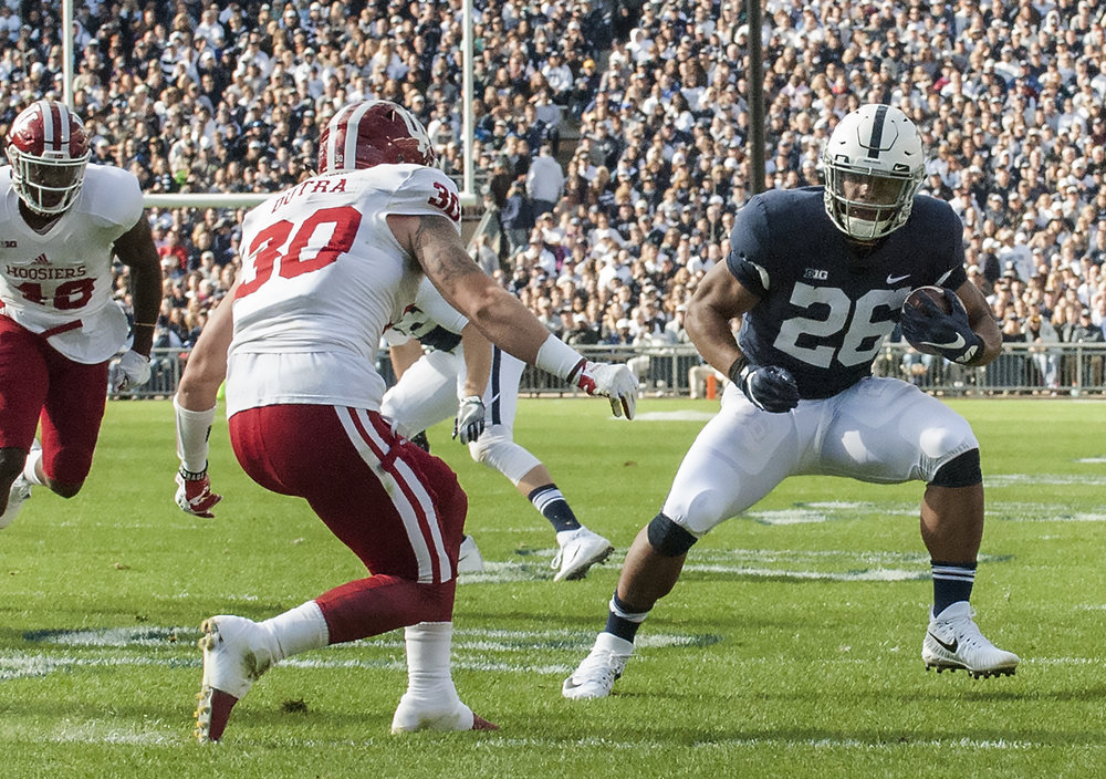Penn State's Saquon Barkley could be an interesting choice for the Jets' draft. ( Patrick Mansell, Penn State /Flickr, Creative Commons)