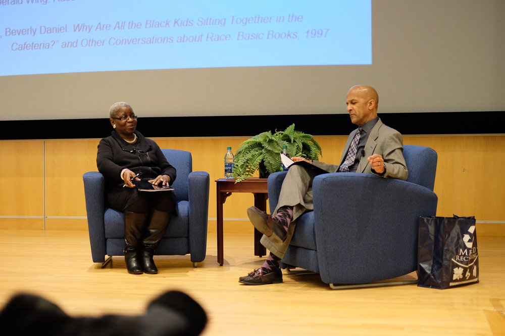 "Mobley's event, organized by Residential Life, delved into a social issue she refers to as ""the paradox of race talk in America.""(Jon Sammis/The Daily Campus)"