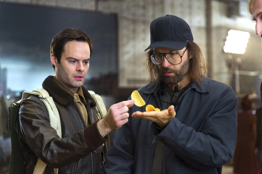 This photo provided by Pringles shows a scene from a Pringles Super Bowl spot, featuring actors Bill Hader, left, and Sky Elobar. For the 2018 Super Bowl, marketers are paying more than $5 million per 30-second spot to capture the attention of more than 110 million viewers. (Rob Kalmbach/Pringles via AP)