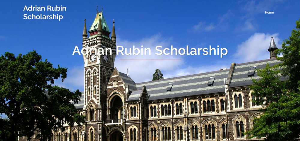 "The Adrian Rubin Scholarship is intended for ""students of the future,"" according to the scholarship website. (Screenshot/Adrian Rubin Scholarship)"
