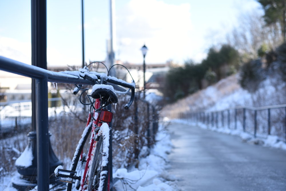 Winter at UConn is cold - especially for a commuter. (Charlotte Lao/The Daily Campus)