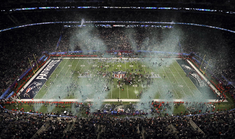 The Philadelphia Eagles celebrate after the NFL Super Bowl 52 football game against the New England Patriots, Sunday, Feb. 4, 2018, in Minneapolis. The Eagles won 41-33. (Morry Gash/AP)
