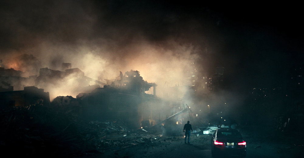 "This image released by Netflix shows a scene from ""The Cloverfield Paradox,"" a film that was released on Netflix immediately following the Super Bowl on Sunday, Feb. 4. (Netflix via AP)"