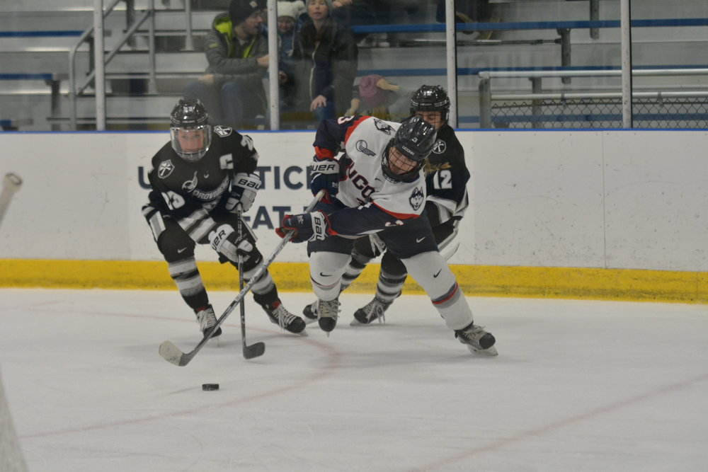 Women's Hockey in action against Providence earlier this year (Jon Sammis/The Daily Campus)