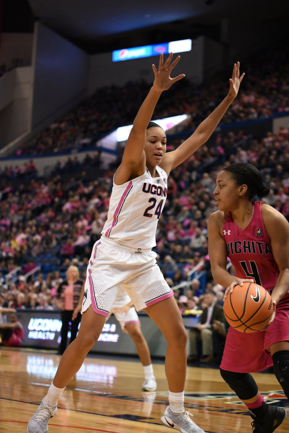 Senior Napheesa Collier will look to carry over from a strong game against Wichita State (Charlotte Lao/The Daily Campus)