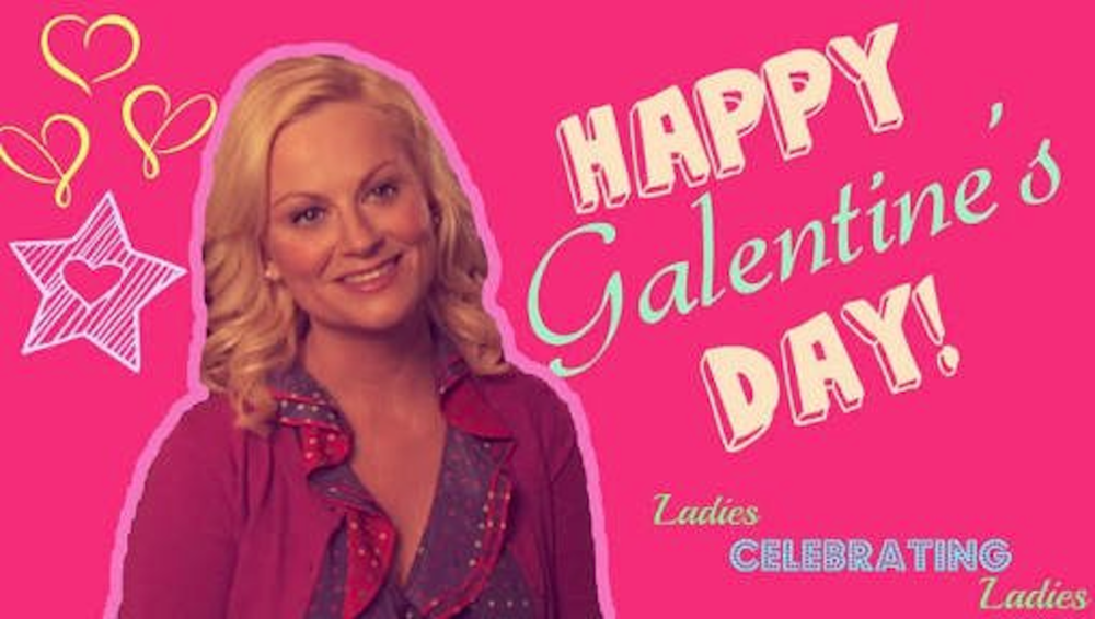 "Galentine's Day was created on the NBC show ""Parks and Recreation,"" which ran a respectable seven season run from 2009 to 2015. In the 16th episode of the second season, Leslie Knope and her friends gather for brunch in celebration of Galentine's Day. (Screenshot courtesy of  Kris Howard's Twitter )"