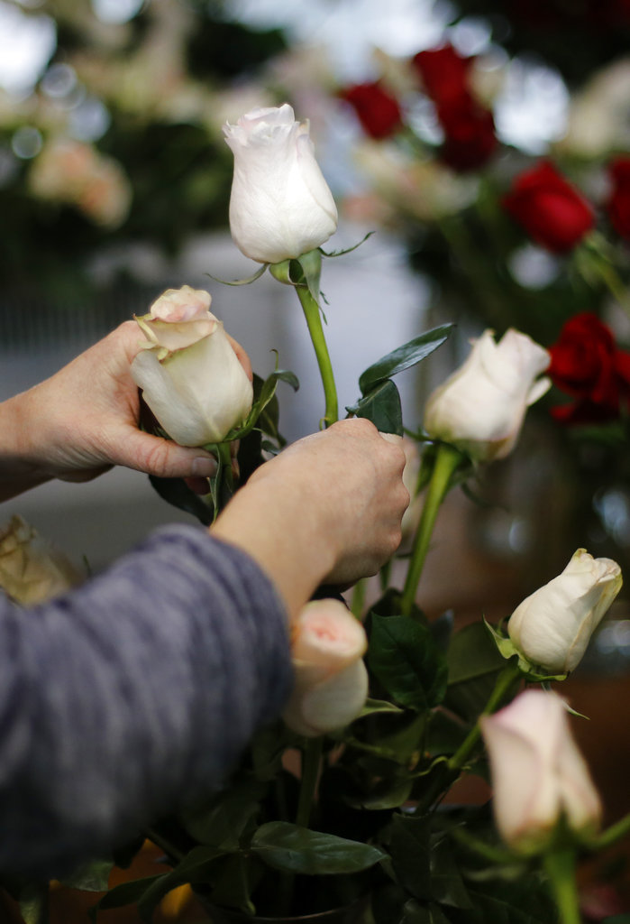 Flowers are always a good idea for Valentine's Day. And they're a good idea to make up for Valentine's Day. (C.B. Schmelter/Chattanooga Times Free Press via AP)