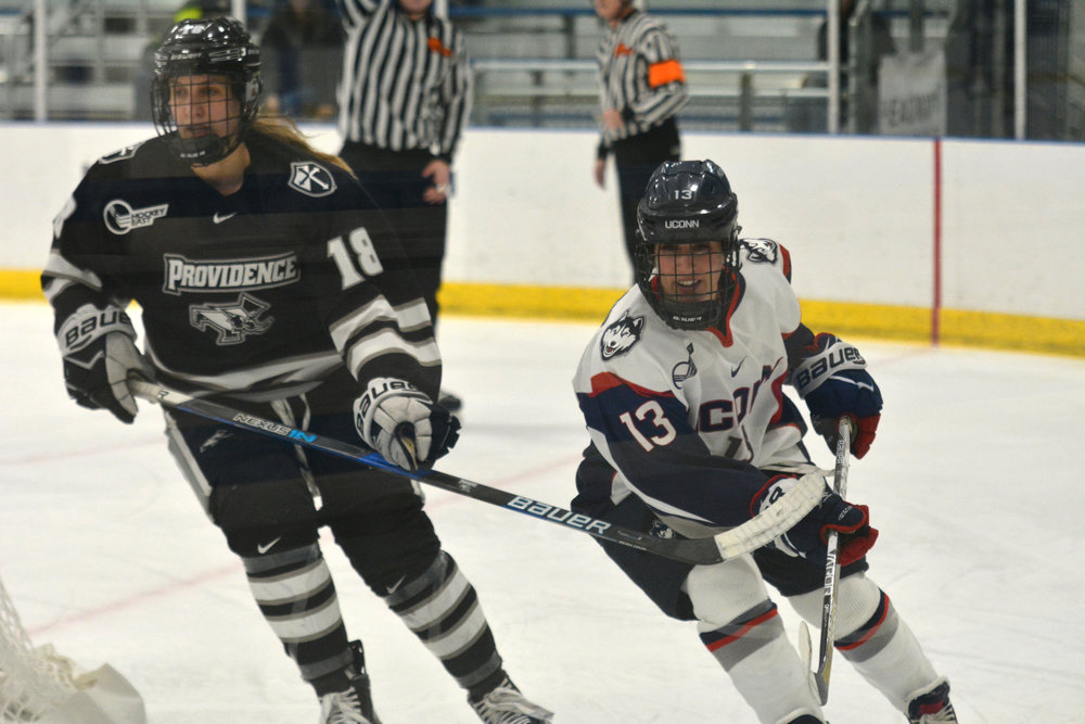 The Huskies will hit the ice at the Mark Edward Freitas Forum Friday at 7 p.m. and Saturday at 2 p.m. MacKenzie said the focus is on execution and playing hard. (Jon Sammis/The Daily Campus)