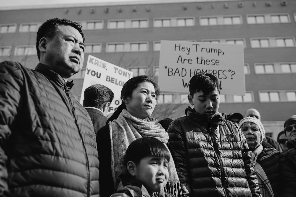 Two Connecticut parents, Zhe Long Huang and Xiang Jin Li, also known as Tony and Kris, were recently granted a stay from an ICE deportation order for Feb. 16.  (photo via Forward CT Facebook page)