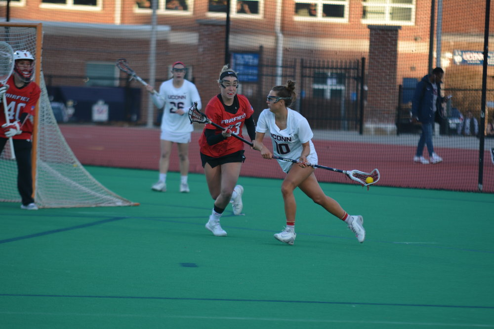 The Women's Lacrosse program was in Virginia this weekend challenging James Madison (Jon Sammis/The Daily Campus)