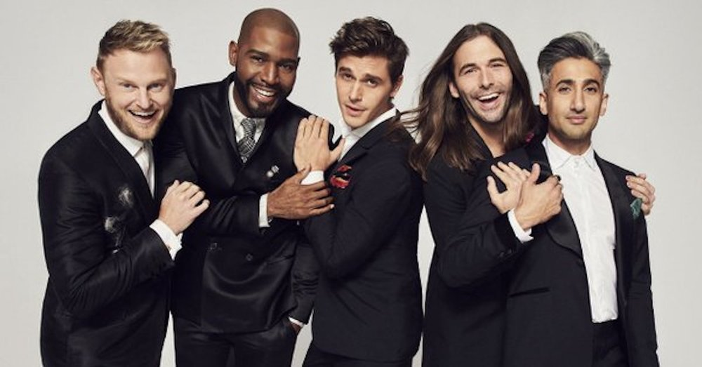 "A reboot of the 2003–2007 show of the same name, ""Queer Eye"" features five gay men, affectionately referred to as the Fab Five, helping a man (straight or not) makeover his life in each episode. (Screenshot courtesy of  BuzzFeed Twitter )"