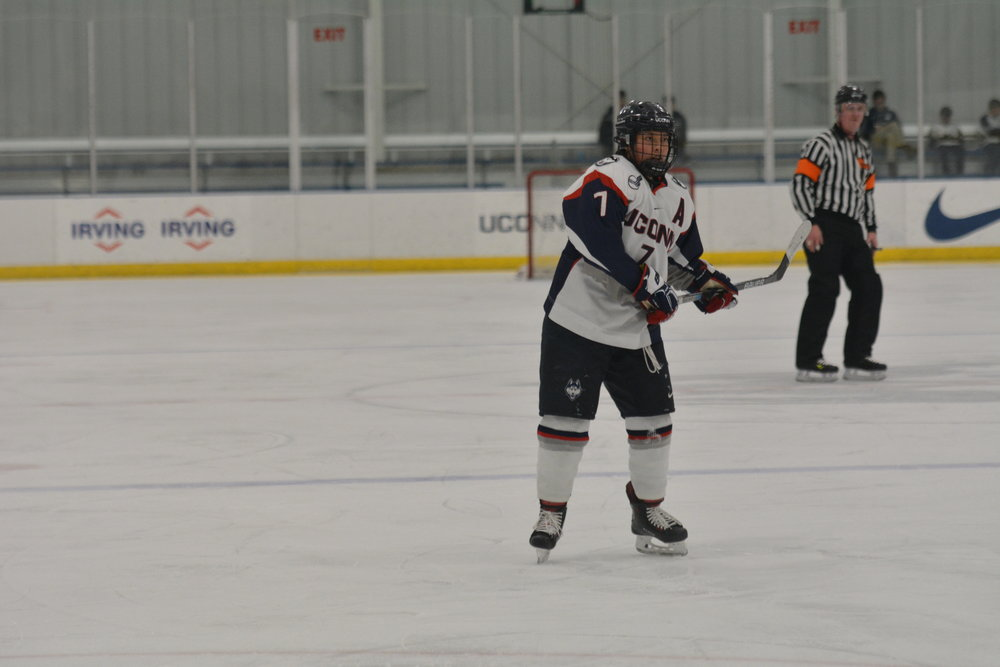 The UConn Huskies faced off against the Providence Friars in the Freitas Ice Forum on  Saturday, Feb. 3. After tailing for the first period, the Huskies bring the game to a tie. The Huskies win 3-2 in overtime.