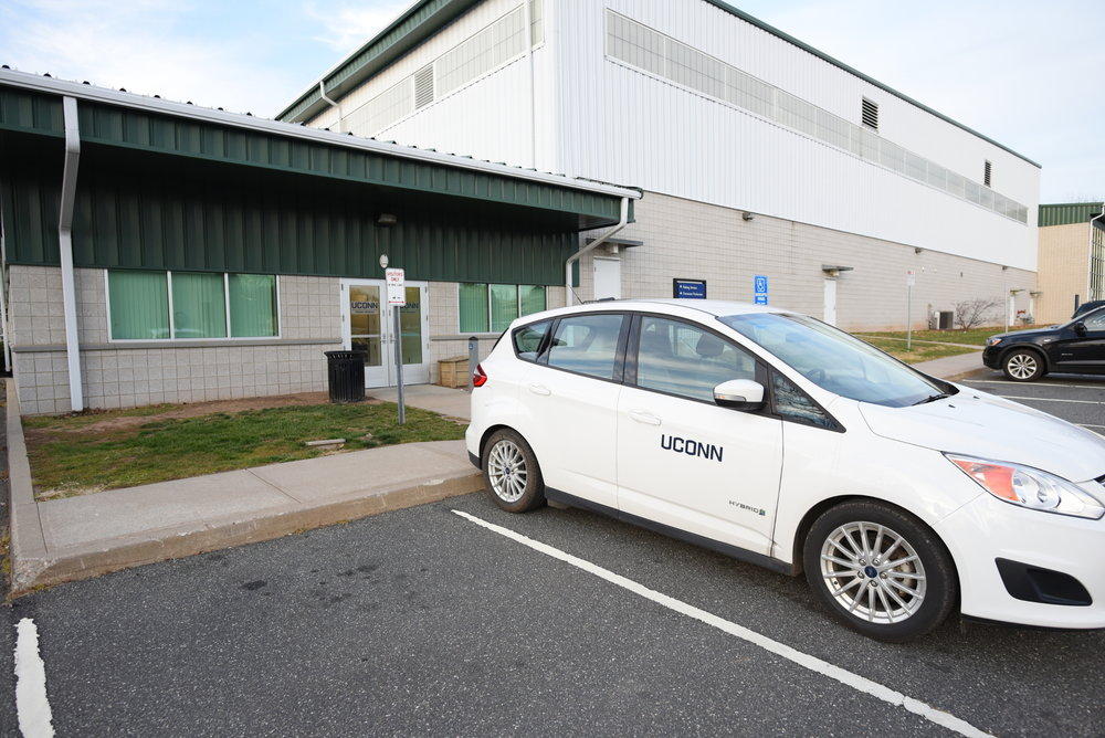 UConn is planning on building upwards on existing lots, adding about 1,000 new spaces for cars. (Zhelun Lang/The Daily Campus)