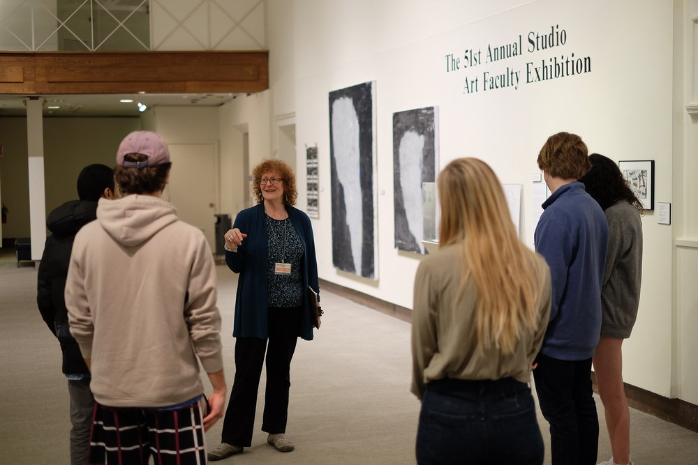 Another installment of Art in Small Bites occurs in the Benton Art Museum on Wednesday, Feb 21. Today's tour covered the origins of the Beanery as a mess hall and other things. (Jon Sammis/The Daily Campus)