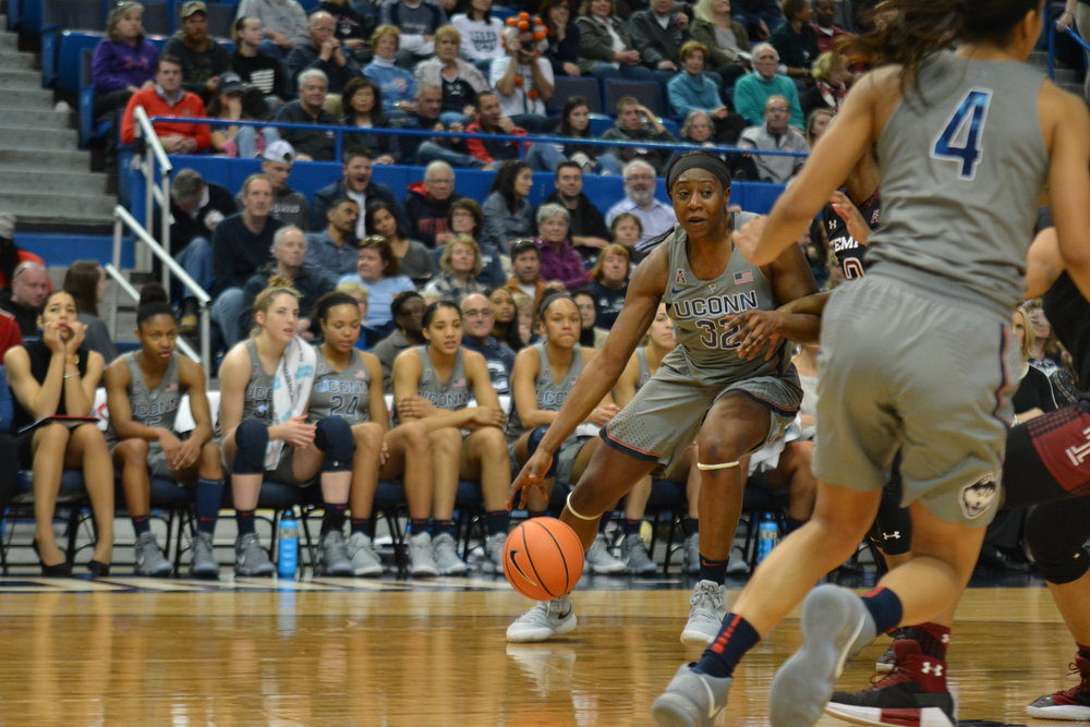 UConn will be faced with a tough schedule after Saturday's game, as the Huskies will have to take a late flight home to Storrs before a quick turnaround to a Monday night matchup with No. 18 USF. (Olivia Stenger/The Daily Campus)