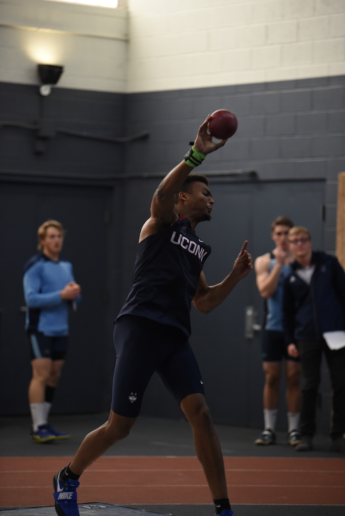 UConn has multiple freshmen qualified for the field events, specifically the high jump and the shot put. (Charlotte Lao/The Daily Campus)