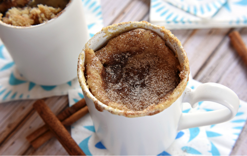 This week on Melissa's Menu is a snickerdoodle mug cake. (Photo courtesy of  Five Heart Home )