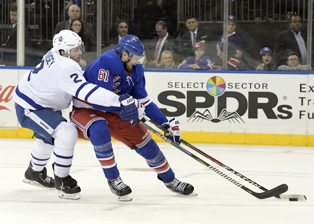 On Sunday, Feb. 25, 2018, the New York Rangers traded forward Rick Nash as part of a multiplayer deal with the Boston Bruins. The Rangers acquired the Bruins' first-round pick in this year's draft as well as forwards Ryan Spooner and Matt Beleskey and a seventh-round pick in the 2019 draft. (AP Photo/Bill Kostroun, File)