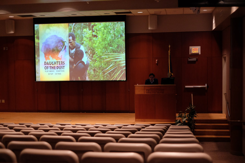 "The film ""Daughters of the Dust"" is screened in the Dodd Center on Tuesday, Feb. 28 as a part of a film series on human rights. (Jon Sammis/The Daily Campus)"