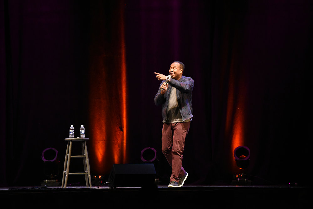 SUBOG hosts Sal Vulcano and Roy Wood Jr. for their Winter Comedy Show in Jorgensen on Thursday, March 1, 2018. (Charlotte Lao/The Daily Campus)