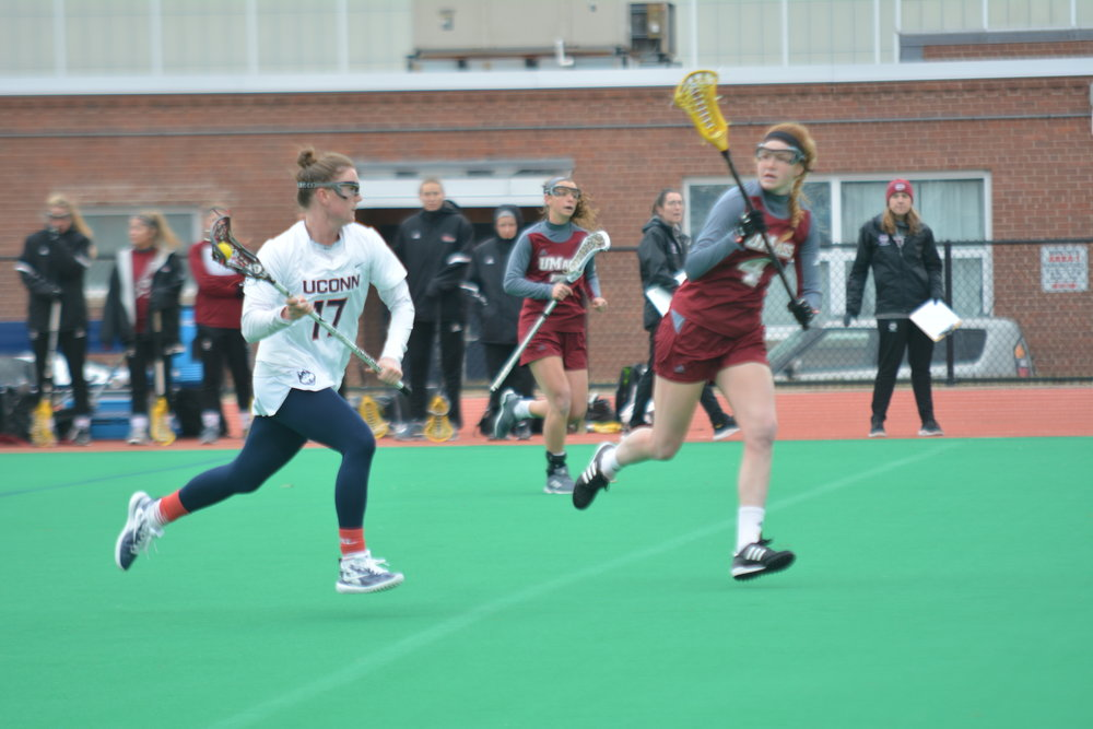 The Women's Lacrosse team lost to UMass 11-12 Saturday. The Huskies look to bounce back at the next home game on March 3 at the Sherman Family Sports Complex.