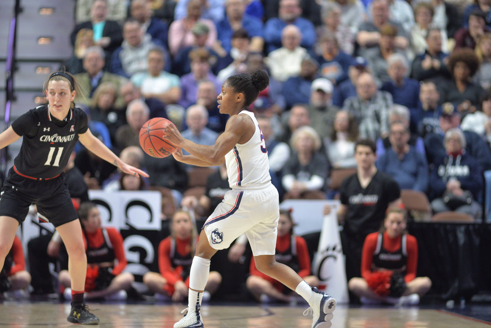UConn and USF will tip off at 5 p.m. for the American Championship. The game will be broadcast on ESPN2. (Amar Batra/The Daily Campus)
