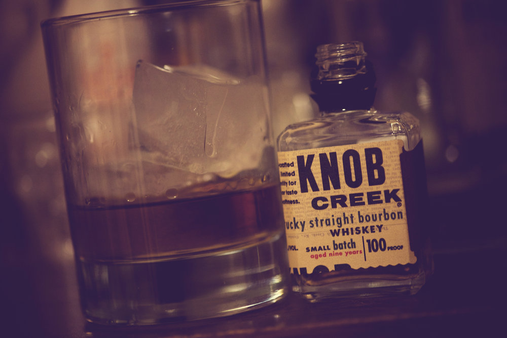 Knob Creek Kentucky Straight Bourbon Whiskey, named after the creek that bends by Abraham Lincoln's childhood home. ( Steven Guzzadl /Creative Commons Flickr)