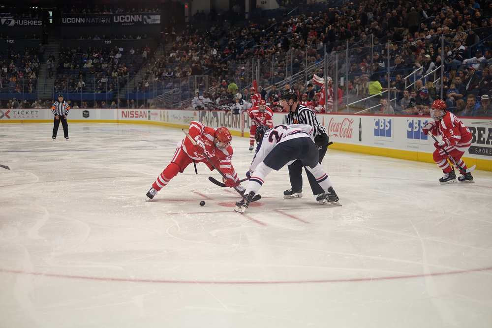 The Huskies will certainly need to be at their best if they hope to knock off the Terriers. BU ranks third in Hockey East in both scoring offense and scoring defense. (Jon Sammis/The Daily Campus)