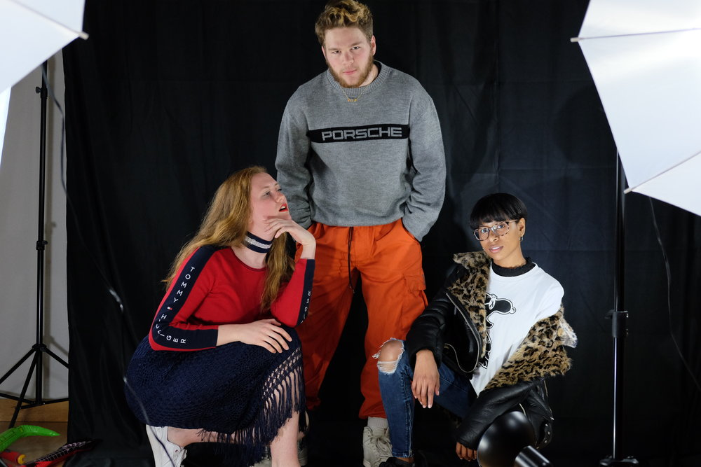 Students at the fashion show also discussed what is fashionable right now. (Jon Sammis/The Daily Campus)