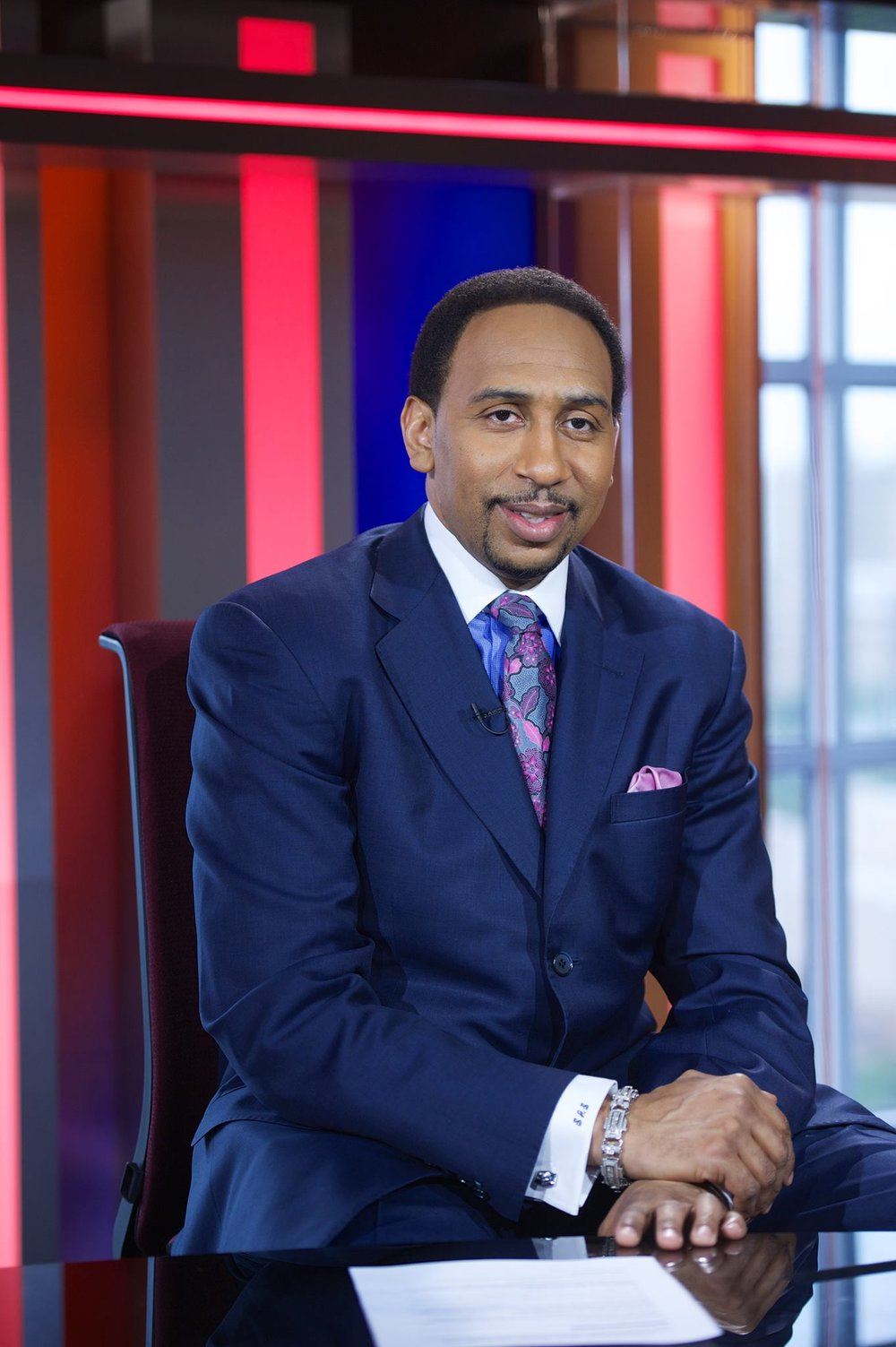 ESPN TV personality Stephen A. Smith brings jokes and advice to students for Spring Weekend at the Jorgensen Center for the Performing Arts on Friday night. (Stephen A. Smith Facebook page)