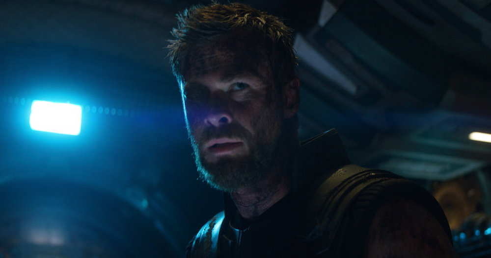 "This image released by Disney shows Chris Hemsworth as Thor in a scene from Marvel Studios' ""Avengers: Infinity War."" (Marvel Studios via AP)"