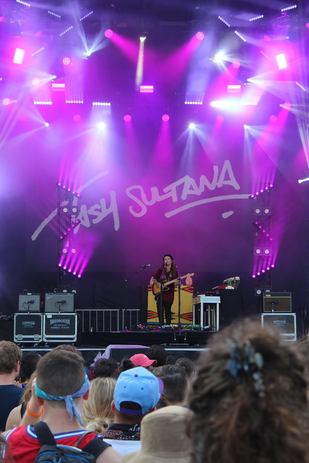 Tash Sultana performing at Govball. (Lucie Turkel/The Daily Campus)