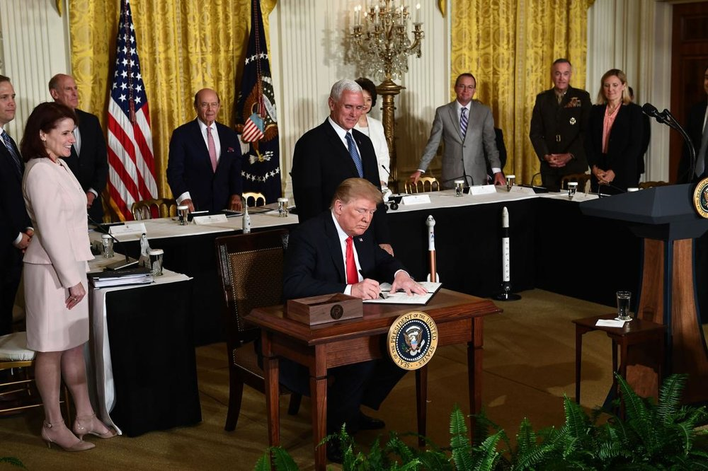 The Trump Administrations Plan To Create A Sixthnch Of The Military Ed Thee Force