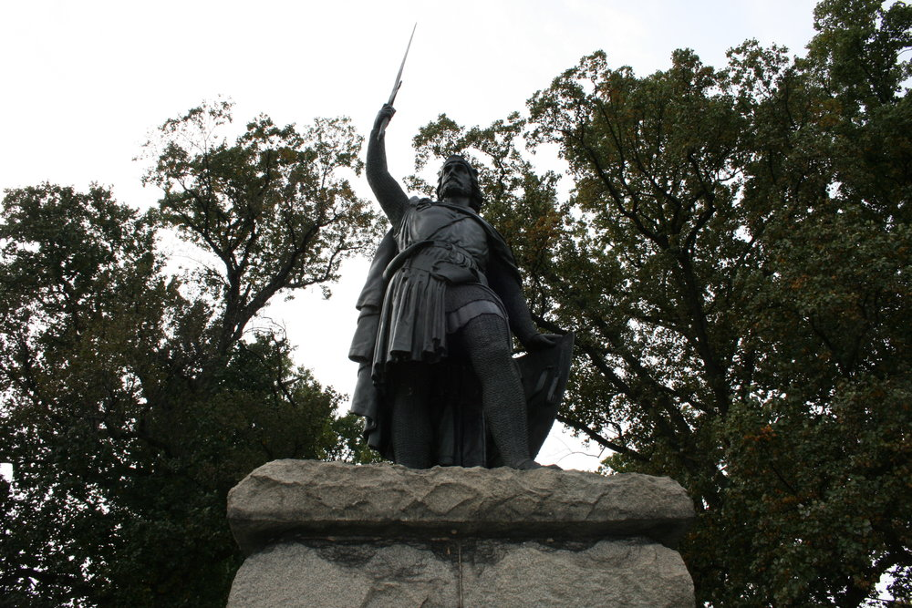 The statue of William Wallace in Baltimore.  (Paul Simpson/Flickr, Creative Commons)