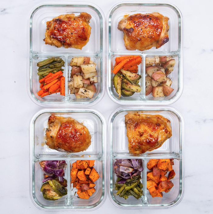 This week's recipe is a honey-mustard chicken meal prep complete with potatoes and veggies. It's healthy, delicious and will save you a lot of time. (screenshot/tasty.co)