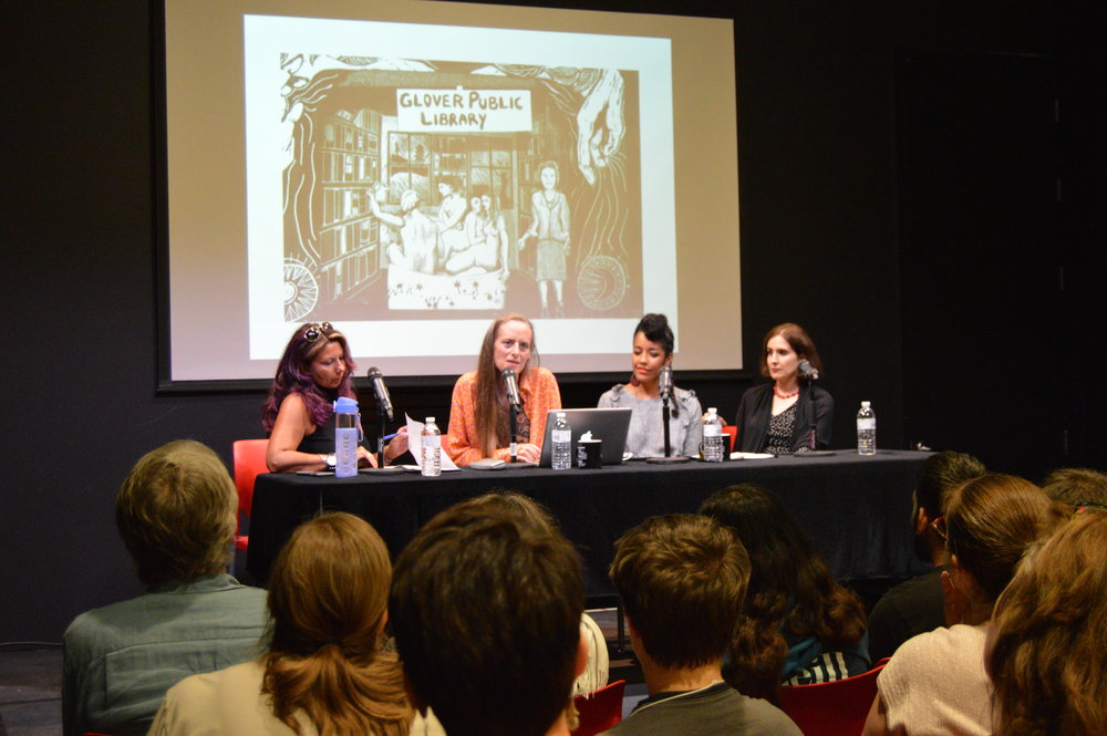 Women puppeteers gather to discuss their identity experience in the shared field. (Zoe Jensen/The Daily Campus)