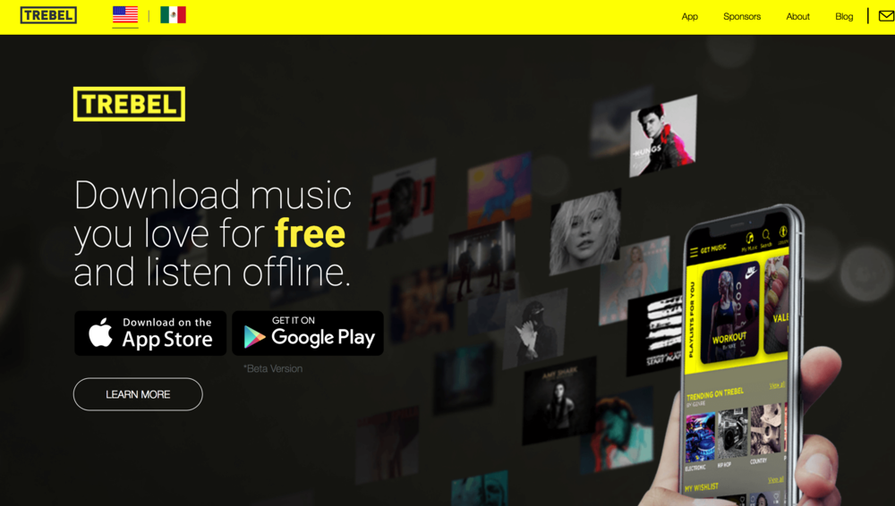 The TREBEL music app has become increasingly popular and its growth isn't slowing. Since the initial release of the app in 2016, TREBEL has recorded over four million downloads in both Android and Apple devices. (Screenshot of website)