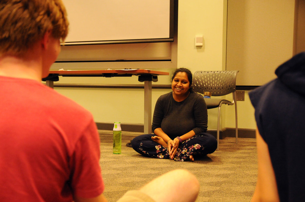 Part one of a mindfulness series features a serene time of meditation guided by Health Education in Wilson 112 on September 18, 2018. (Photo by Judah Shingleton/The Daily Campus)