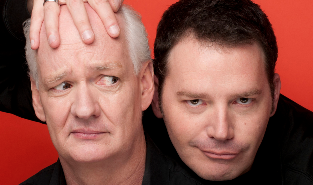 """Be sure to pick up your tickets at the Jorgensen box office or on their website in order to partake in """"An Evening with Mochrie and Sherwood"""" during Family Weekend at UConn. (Photo via Jorgensen Center)"""